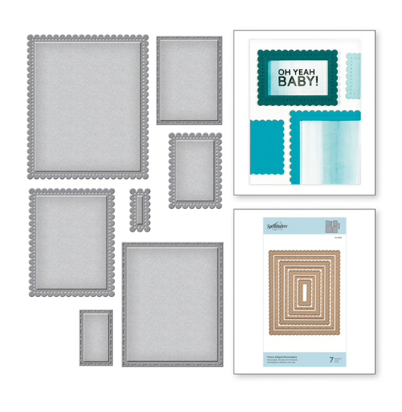 Spellbinders Fancy Edge Rectangles (7 dies)