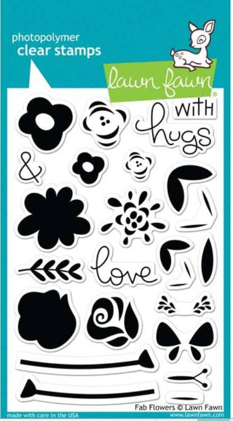 Lawn Fawn Fab Flowers Stamps