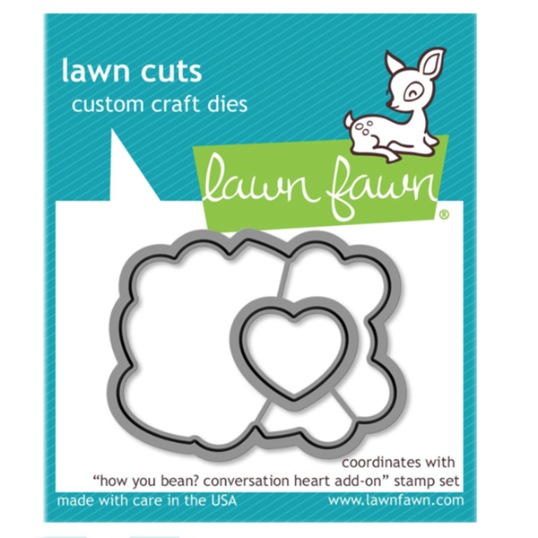 Lawn Fawn How you bean? conversation heart dies