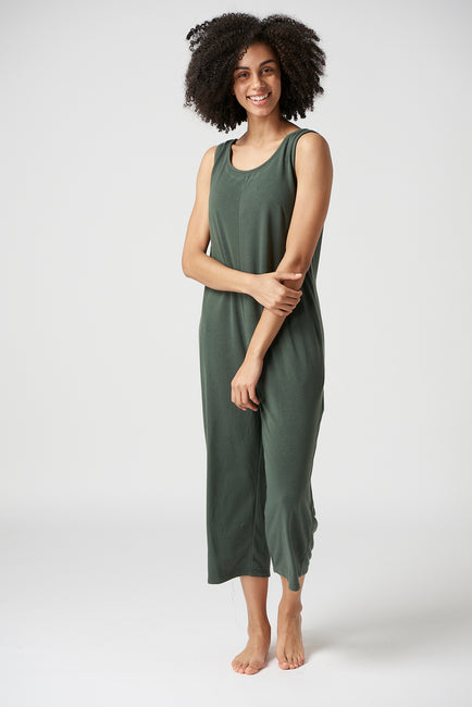 HARRIET JUMPSUIT MOSS GREEN