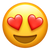 Apple's Version of Smiling Face With Heart-Shaped Eyes Emoji.
