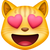 Facebook's Version of Smiling Cat Face With Heart-Shaped Eyes Emoji.