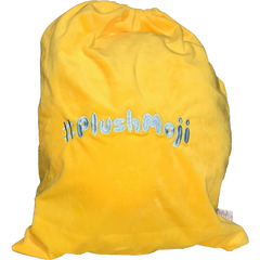 PlushMoji Maker Branded Yellow Drawstring Bag