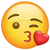 What's App Version of Face Blowing a Kiss Emoji.