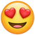 What's App Version of Smiling Face With Heart-Shaped Eyes Emoji.