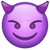 What's App Version of Smiling Face With Horns Emoji.