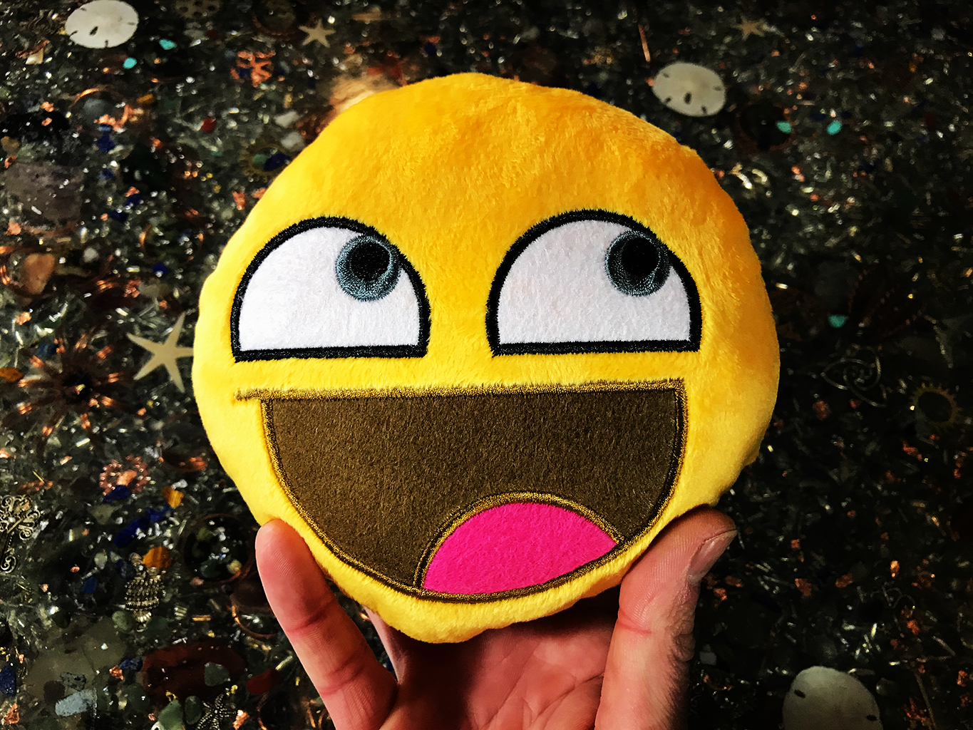 PlushMoji® Awesome Face Epic Smiley Emoji Plushie