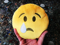 PlushMoji® Crying Face Emoji Plushie