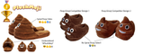 PlushMoji® #1 Pile of Poop Emoji Slippers - BEST DESIGN!