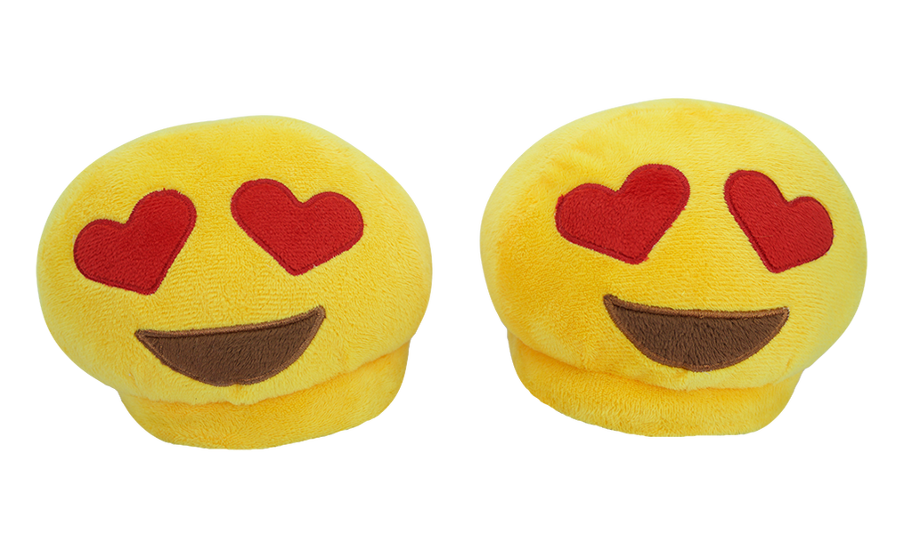PlushMoji® Emoji Slippers - Smiling Face With Heart Eyes