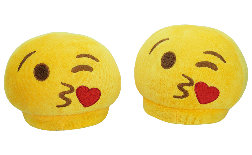 PlushMoji® Emoji Slippers - Face Blowing A Kiss