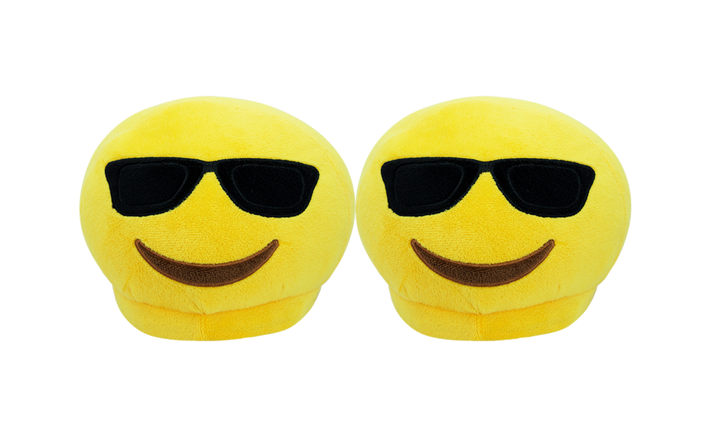 PlushMoji® Emoji Slippers - Smiling Face With Sunglasses