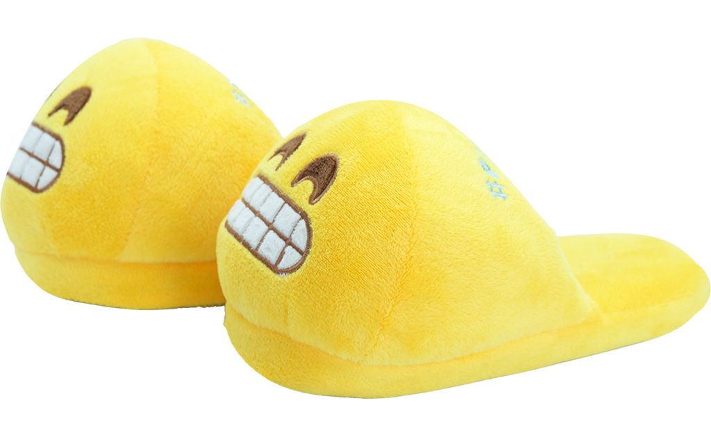 PlushMoji® Emoji Slippers - Beaming Face With Smiling Eyes