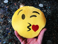 PlushMoji® Face Blowing A Kiss Emoji Plushie