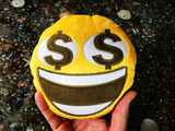 PlushMoji® Grinning Face With Dollar Sign Eyes Emoji Plushie