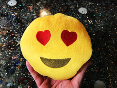 PlushMoji® Smiling Face With Heart-Shaped Eyes Emoji Plushie
