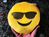 PlushMoji® Smiling Face With Sunglasses Emoji Plushie