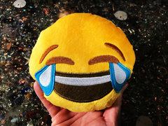 PlushMoji® Face With Tears of Joy Emoji Plushie