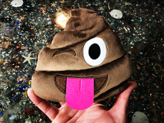 PlushMoji® Winking Face With Tongue Pile of Poop Emoji Plushie