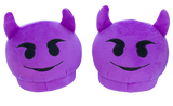 Emoji Slippers - Purple Devil
