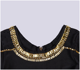 Gold Embellished Bodycon