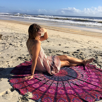 Summer Yoga Shawl