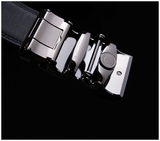 Sleek Silver Genuine Leather Belt