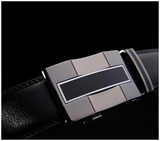 Gunmetal Genuine Leather Belt
