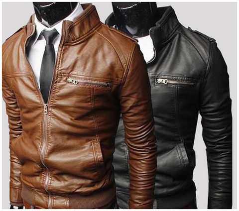 Slim-Fit James Bond Leather Jacket