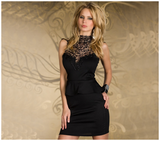 Lace Collar Peplum