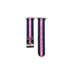 Blue and Pink Nylon Apple Watch Strap
