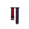 Apple Watch Blue and Red Nylon Strap