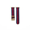 Blue and Red NATO Apple Watch Strap