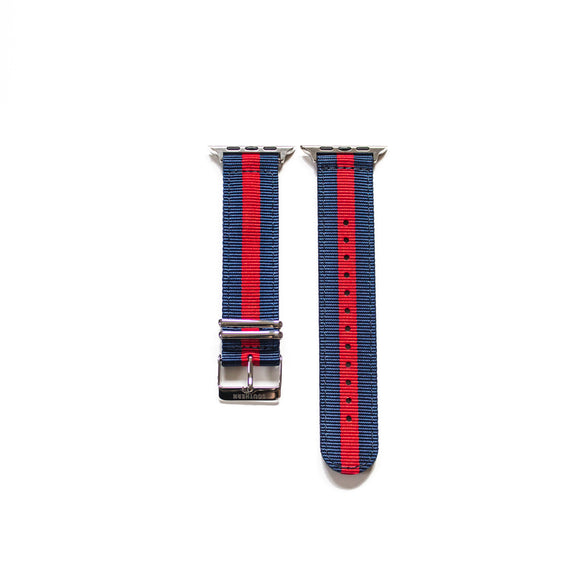 Blue and Red Apple Watch NATO strap