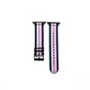 Blue White and Pink Apple Watch Strap