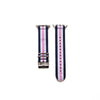 Apple Watch Blue White and Pink Nylon Band