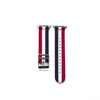 Red White and Blue Nylon Apple Watch Strap