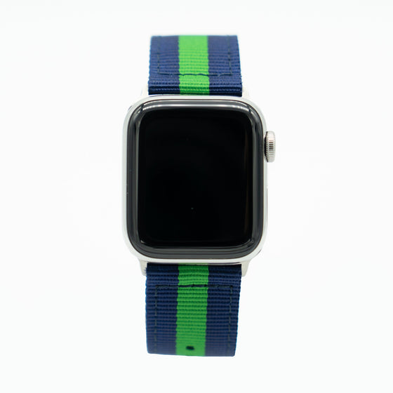 Blue Green Nylon Apple Watch Band