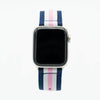 Blue White Pink Nylon Apple Watch Band