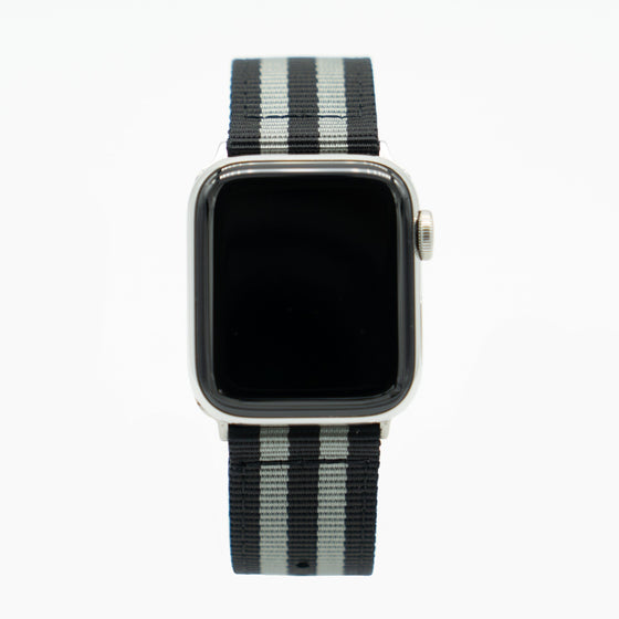 Black and Grey Apple Watch Band