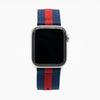 Blue and Red Nylon Apple Watch Band