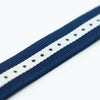 Blue and White Nylon Watch Band