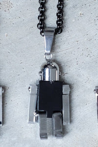 ROBOT NECKLACE - BLACK - KISS THE SKY  - 2