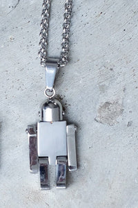 ROBOT NECKLACE - SILVER - KISS THE SKY  - 2