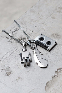 ROBOT NECKLACE - SILVER - KISS THE SKY  - 4