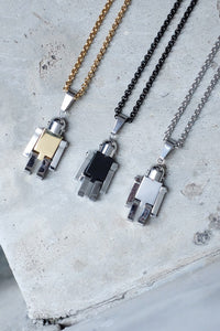 ROBOT NECKLACE - BLACK