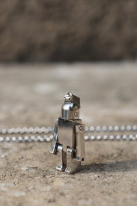 ROBOT NECKLACE - SILVER - FREE