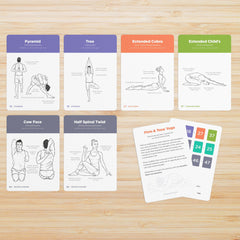 Yoga Flashcards with Sanskrit