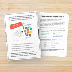 Intermediate yoga pose cards for women and men