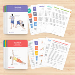WorkoutLabs Yoga Flash Cards with Sanskrit